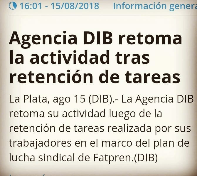 Agencia DIB de la ciudad de La Plata