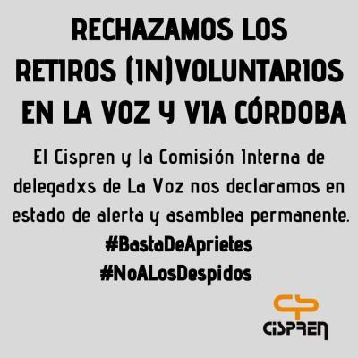 Córdoba: Paro en defensa de puestos laborales de La Voz del Interior