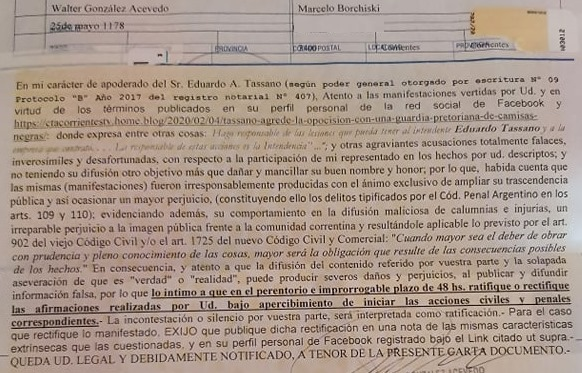 FATPREN repudia un acto intimidatorio contra el periodista Burchiski