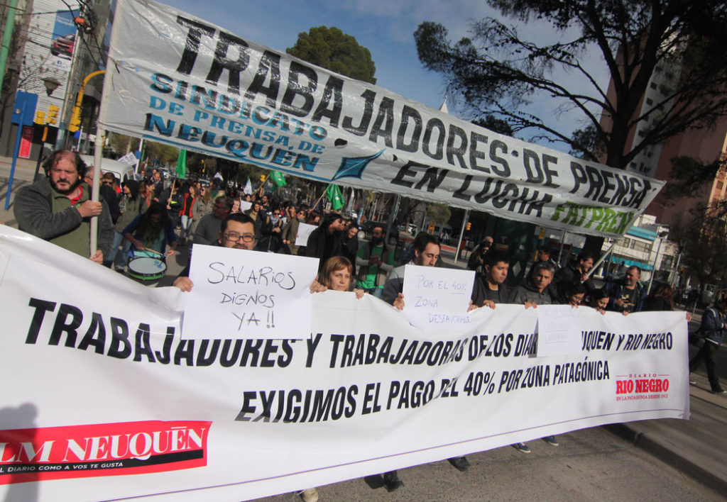40 % zona patagónica. No a lo despidos ni precarización laboral. Cumplimiento efectivo CCT 541/08
