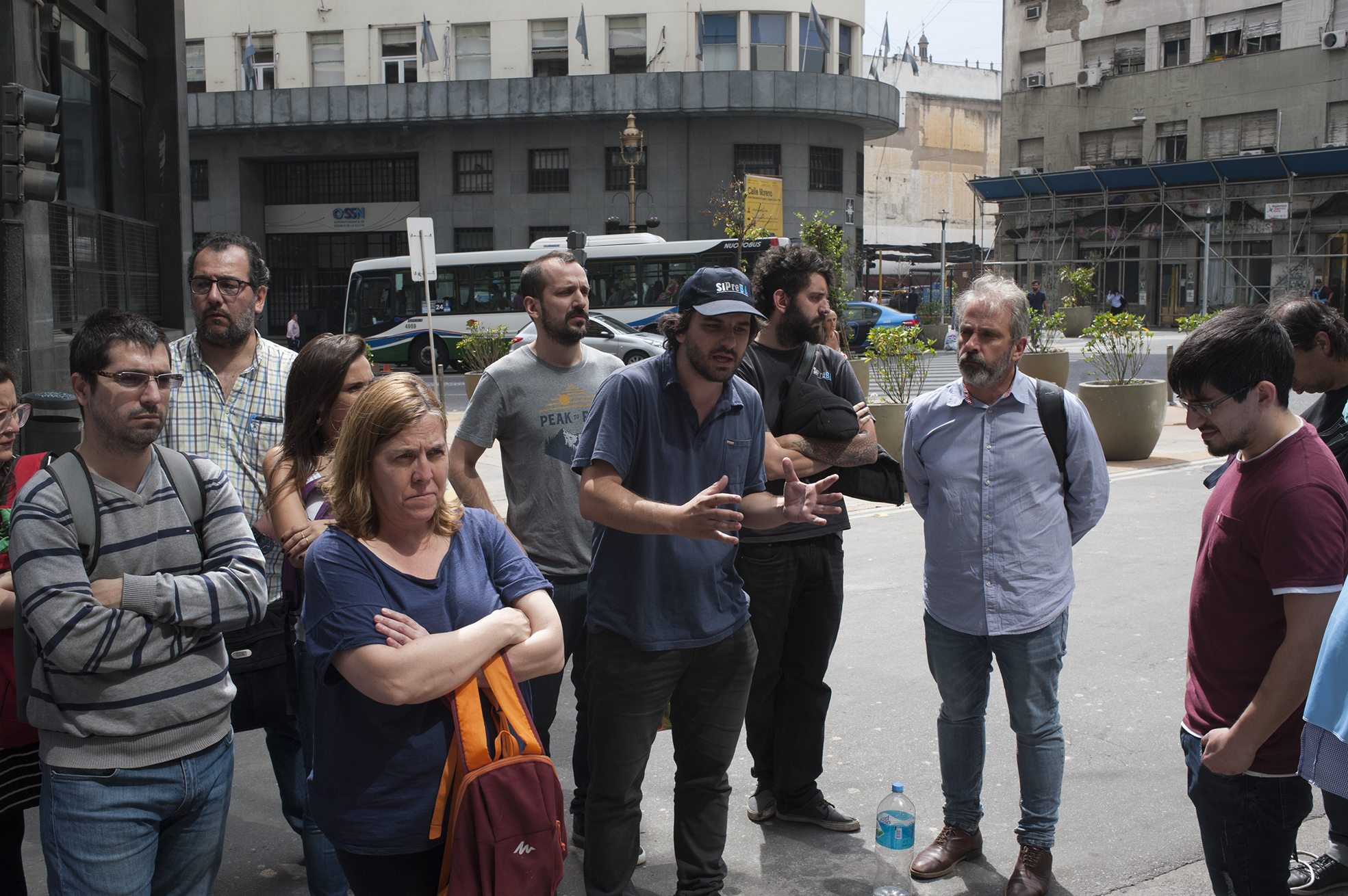 Buenos Aires 23 noviembre 2017 Radio abierta no al cierre de la agencia de noticia DyN foto Rolando Andrade Stracuzzi ley 11723