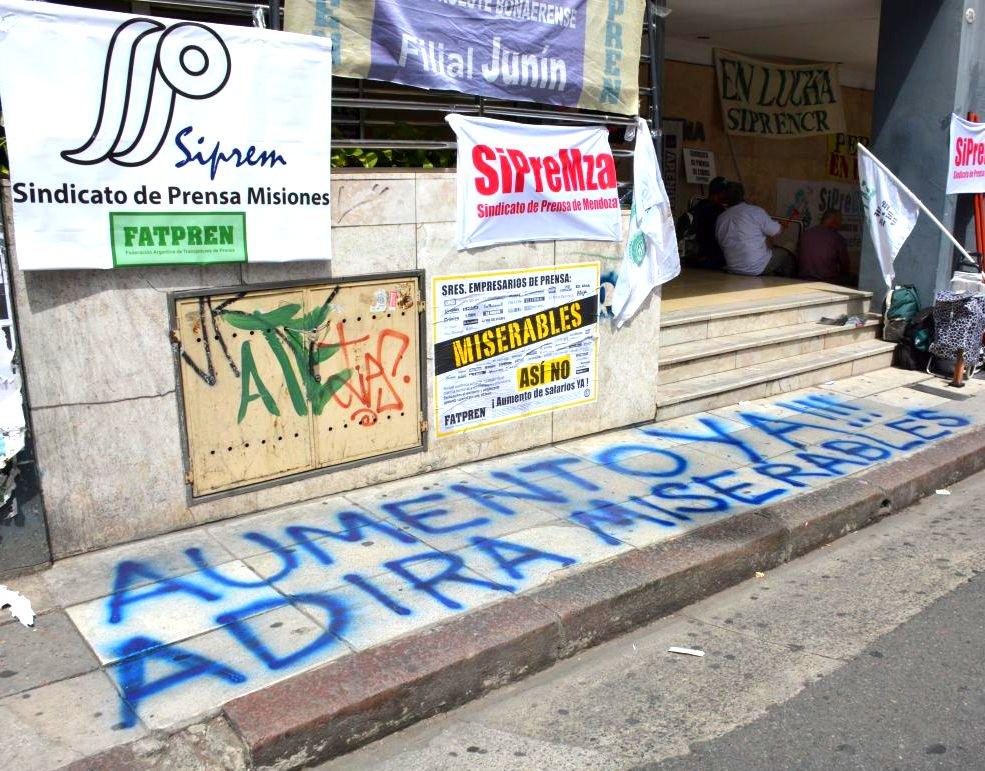 Acción frente al Edificio de la Prensa, Capital Federal