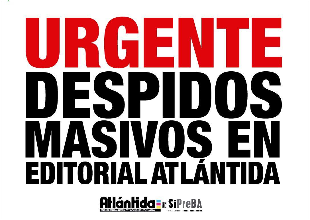 despidos editorial atlantida