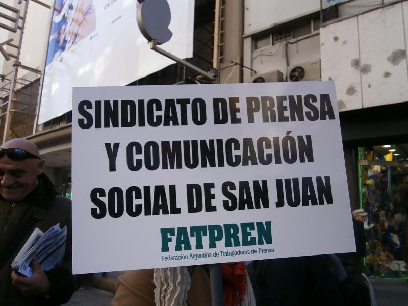 San Juan: FATPREN apoya a las y los trabajadores del diario El Zonda