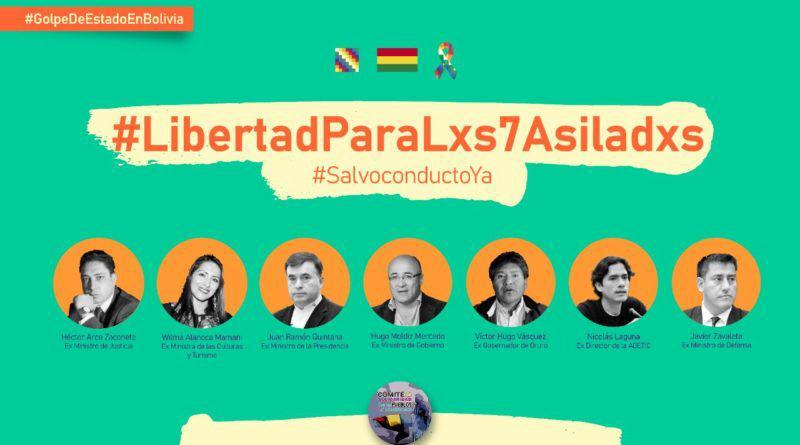 FATPREN en Campaña Internacional por la Libertad y Salvoconductos para lxs 7 asiladxs