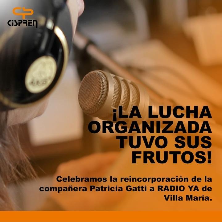 Córdoba: Reincorporaron a la trabajadora de prensa despedida ilegalmente